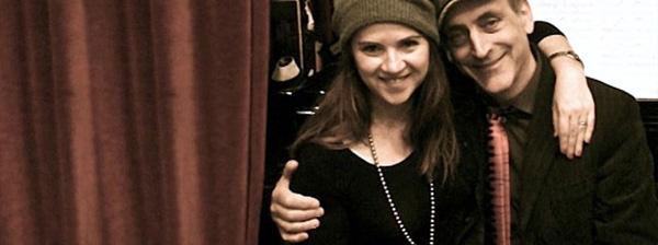 Con Cristina Santolaria durante la grabación de